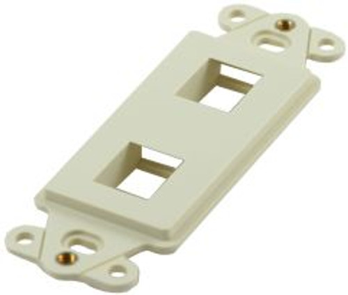 2 Port Almond Decorator Keystone Wall Plate (TA-1102AL)