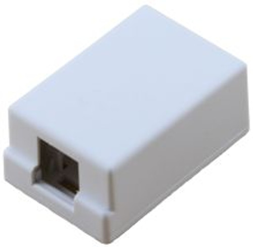1 Port White Surface Mount Box (TA-5022WH)