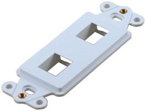 2 Port White Decorator Keystone Wall Plate (TA-1102WH)