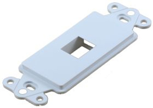 1 Port White Decorator Keystone Wall Plate (TA-1101WH)