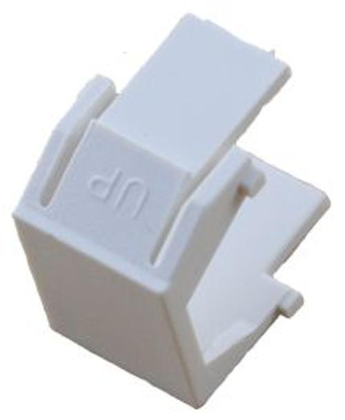 White Blank Snap In Keystone Module (CA-2206WH)