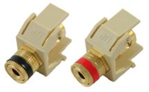 Almond Binding Post Keystone Module - Pair (CA-2131AL)