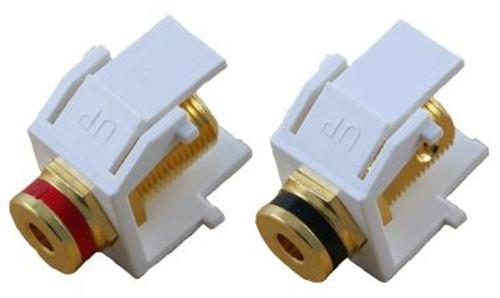 White Banana Jack Keystone Module - Pair (CA-2130WH)