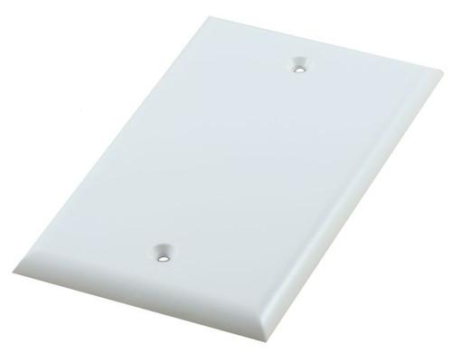 Blank Flush Mount White Plate (CA-1029)