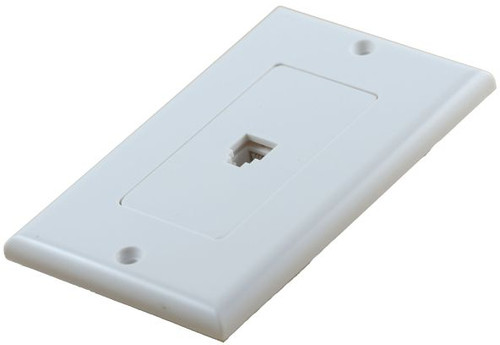 4 Conductor Decorator White Telephone Plate (TA-1120)