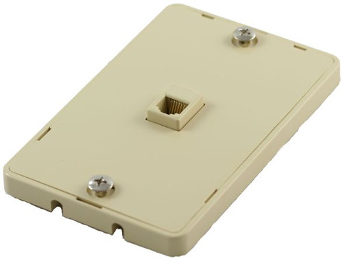 6 Conductor Quick Mount Ivory Telephone Plate (TA-4026)