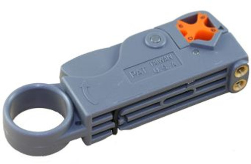 Two-Blade Coax Cable Stripper for RG-58, RG-59, RG-6, Data Cable (SCST-MS)