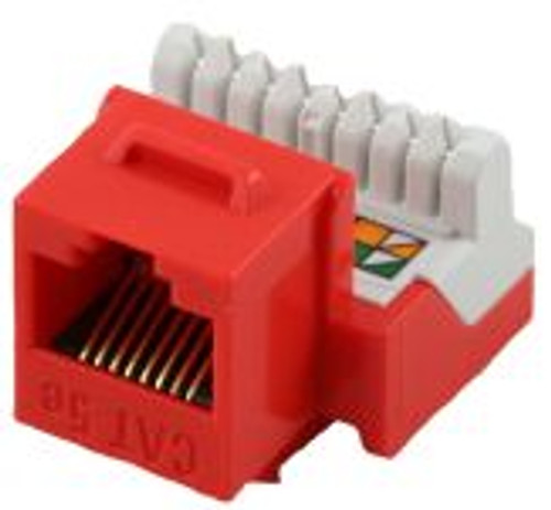 Cat 5E RJ45 110 Type 90 Keystone - Red (TA-2078RD)