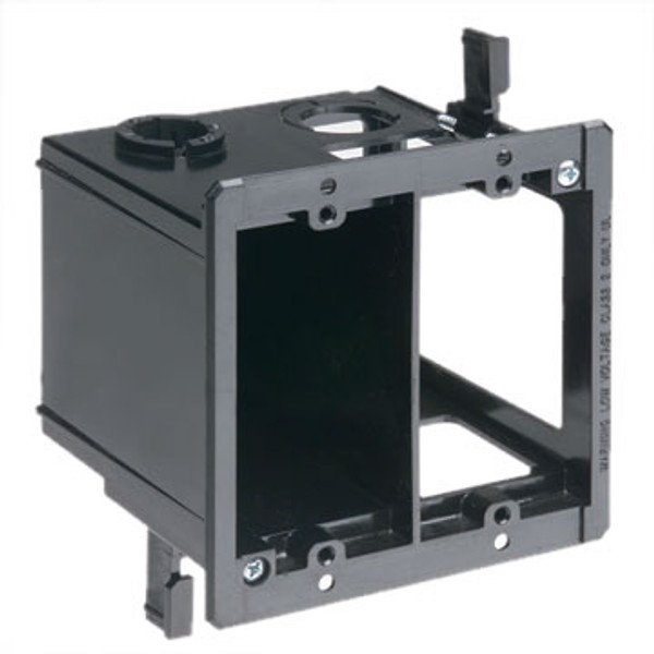 Double Gang Combination Power and Low Voltage Box White (LVDR2)