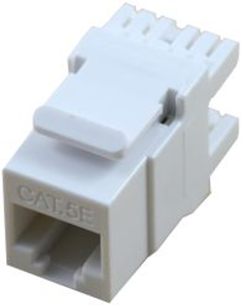 Cat 5e RJ45 110 Type 180 Degree High Density Keystone - White (TA-2078WH-HD)