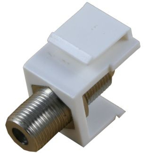 White 1GHz F-Type Feed Through Keystone Module (CA-2205WH)