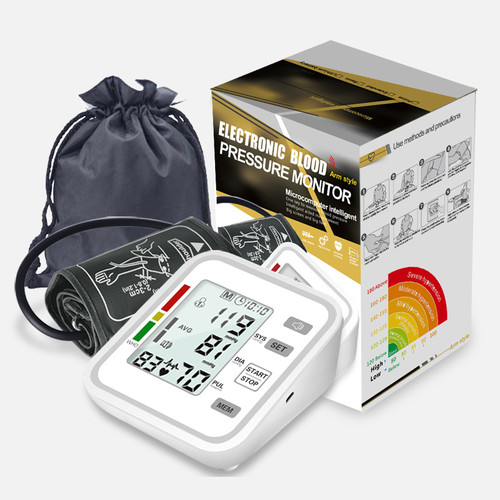 Digital Lcd Arm-type Electronic Automatic Sphygmomanometer Blood Pressure Monitor