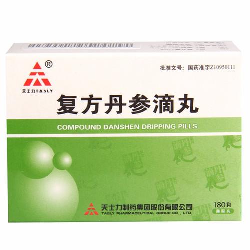 TASLY COMPOUND DANSHEN DRIPPING PILLS For  Coronary Heart Disease   27mg*180 Pills