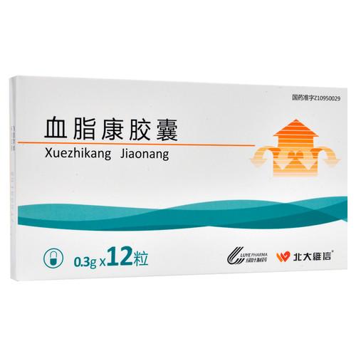 Beidaweixin Xuezhikang Jiaonang For Hyperlipidemia 0.3g*12 Capsules