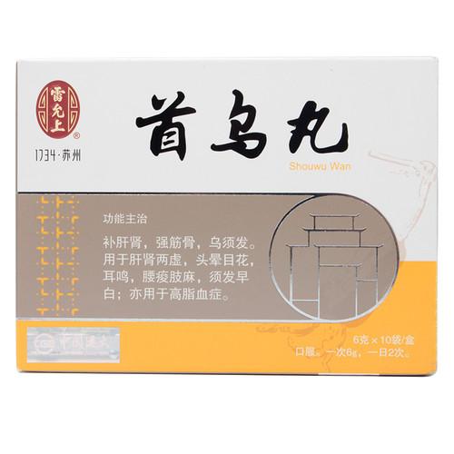 Leiyunshang Shou Wu Wan For Hair Loss 6g*10 Bags