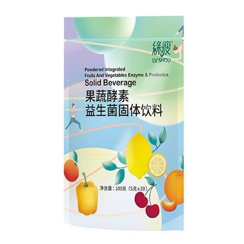 Lv Shou Powdered Integrated Fruits and Vegetables Enzyme & Probiotics 5g * 20 Bags