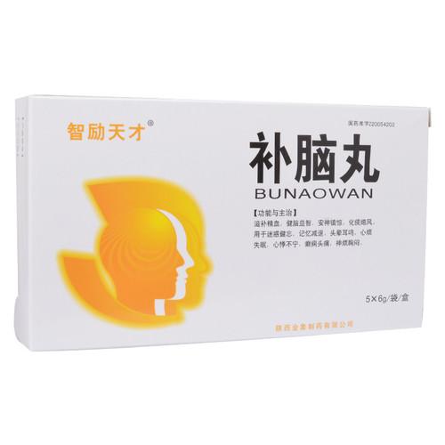Zhi Li Tian Cai Bu Nao Wan For Insomnia 6g*5 Pills