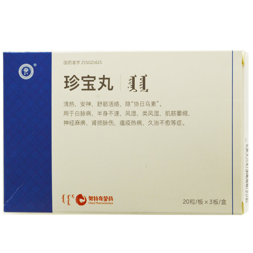 Hong Cheng Zhen Bao Wan For Nerve palsy 60 Pills