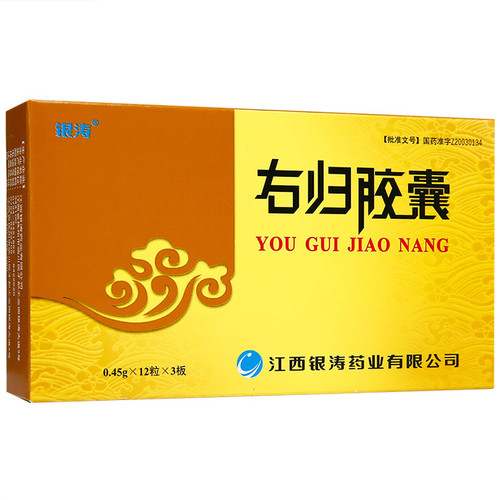 YINTAO YOU GUI JIAO NANG For Tonifying The Kidney 0.45g*36 Capsules