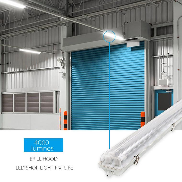 IP65 LED Tube Weatherproof Batten 1200mm (4ft)