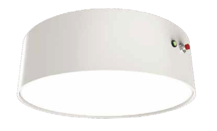 20W Surface Mount LED Oyster Emergency 220mm