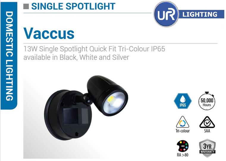 13W Single Spotlight Quick Fit Tri-Colour IP65