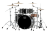 Mapex Saturn Rock 4 Piece Shell Pack Without Snare Satin Black (SR529XUFB)