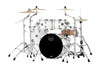 Mapex Saturn Fusion 4 Piece Shell Pack Without Snare Satin White (SR504XRM)