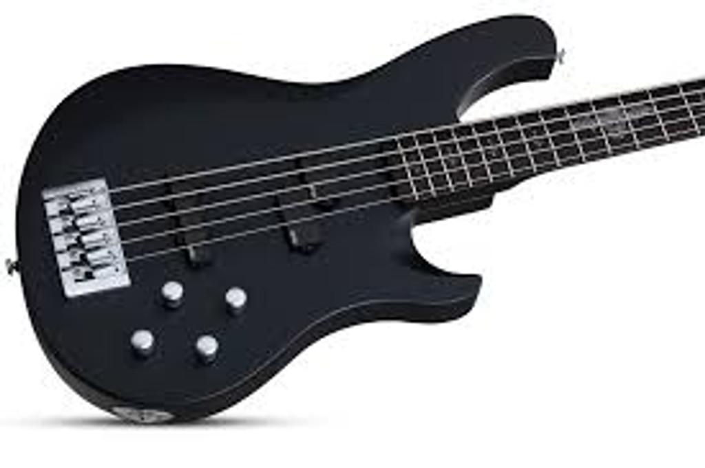 Schecter Johnny Christ-5 Satin Black Bass Guitar