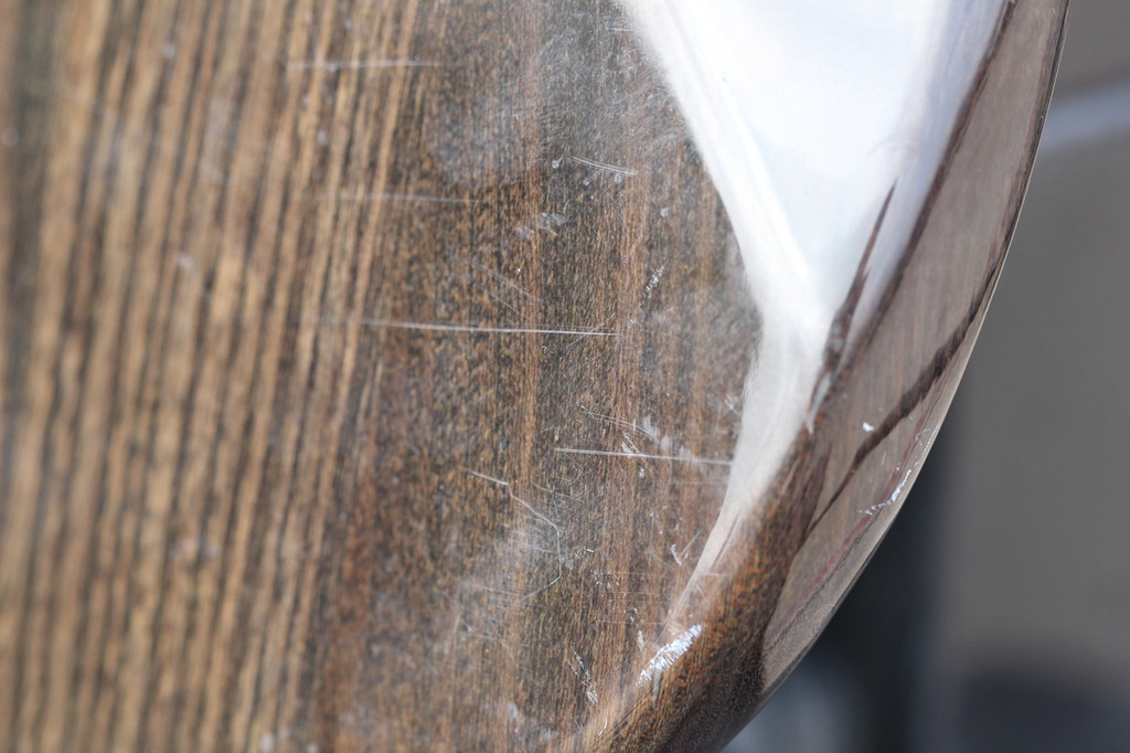 Dark See-Thru Brown Strat Replacement Body