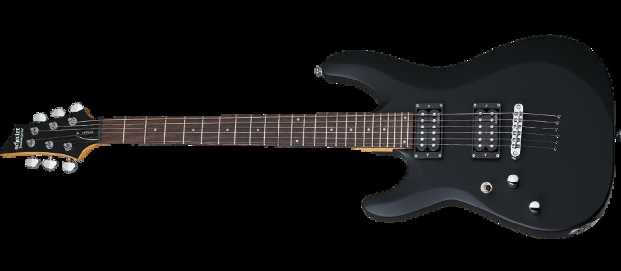 Schecter C-6 Deluxe Satin Black Left handed