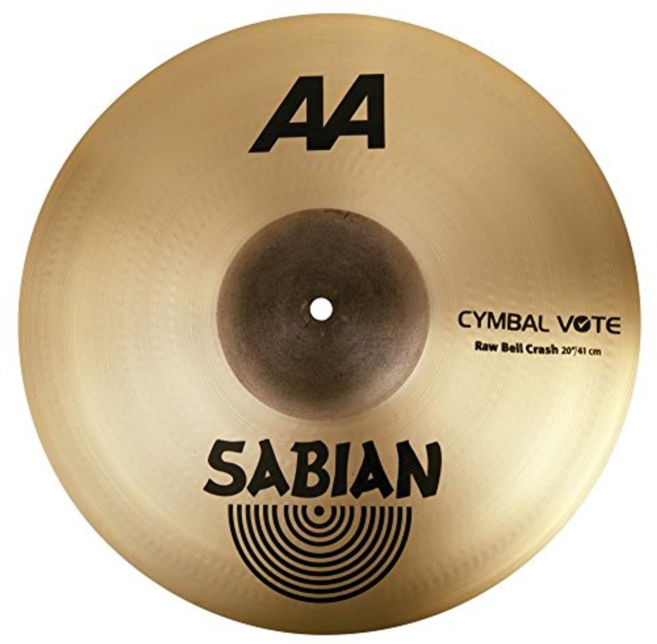 """Sabian 20"""" RAW BELL CRASH AA BR."""