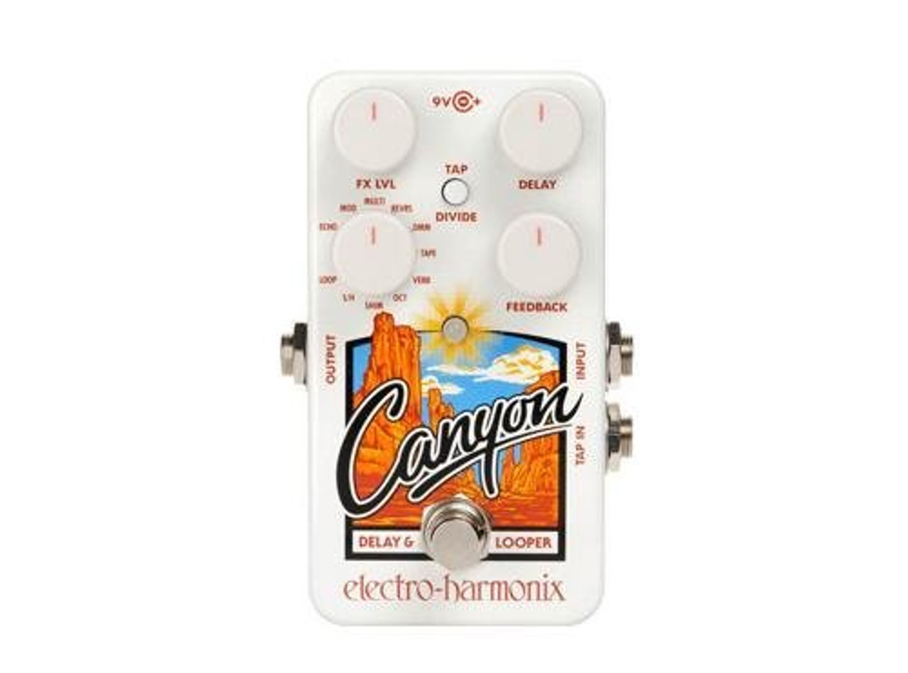 Electro Harmonix NEW CANYON Delay and Looper, 9.6DC-200 PSU included (Free 2-Day Shipping)