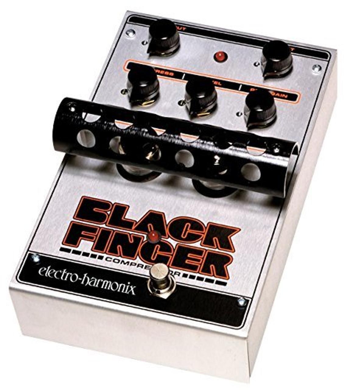Electro Harmonix BLACK FINGER Optical Tube Compressor, 12AC-1000 PSU included