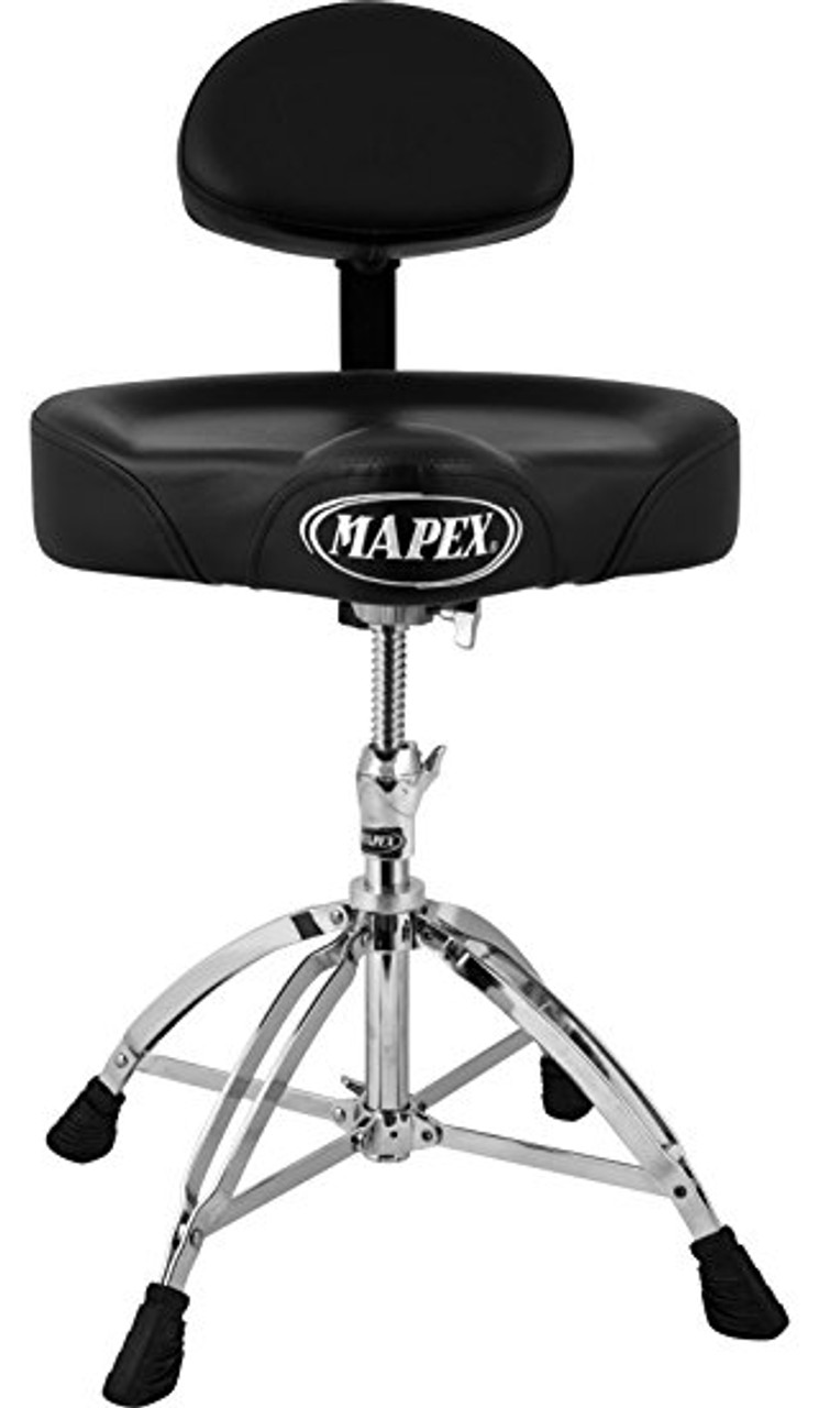 Mapex Saddle Top Drum Throne w/Back Rest and 4 Legs (T775)