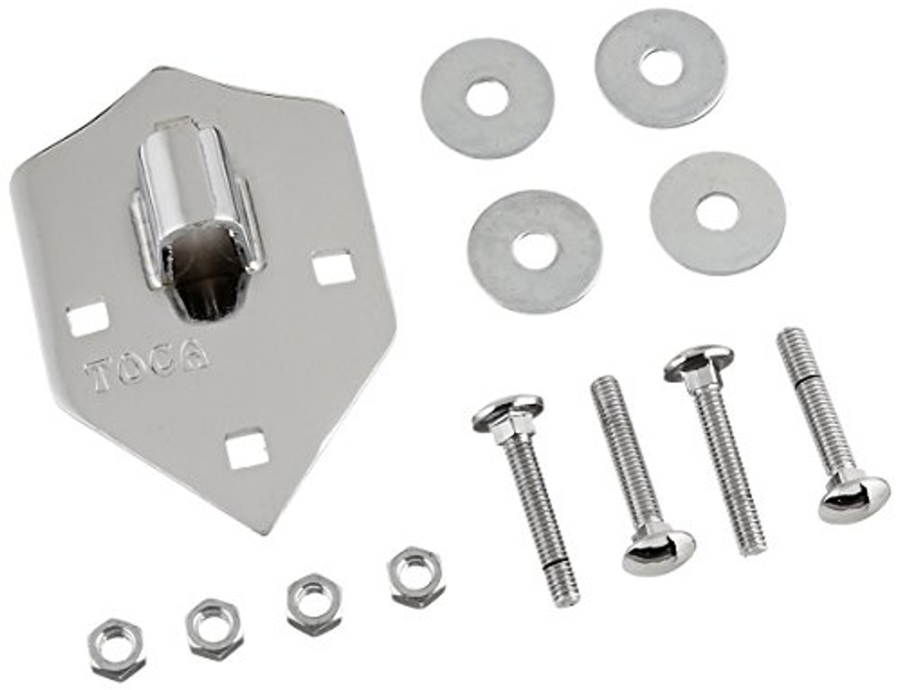 Toca a TP-38002-CN New Style Conga Side Plates with Carriage Bolts for Wood Series - Chrome