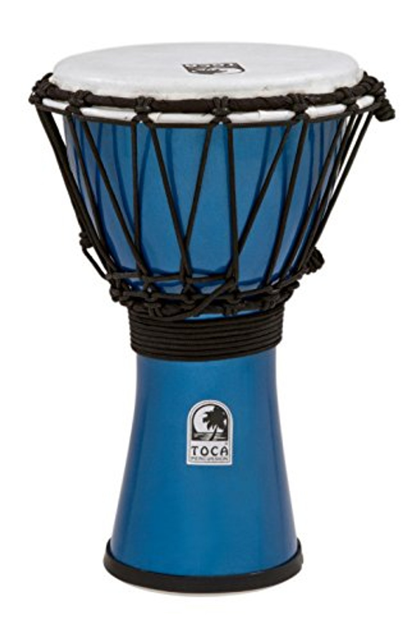 Toca a TFCDJ-7MB Freestyle Colorsound 7-Inch Djembe - Metallic Blue