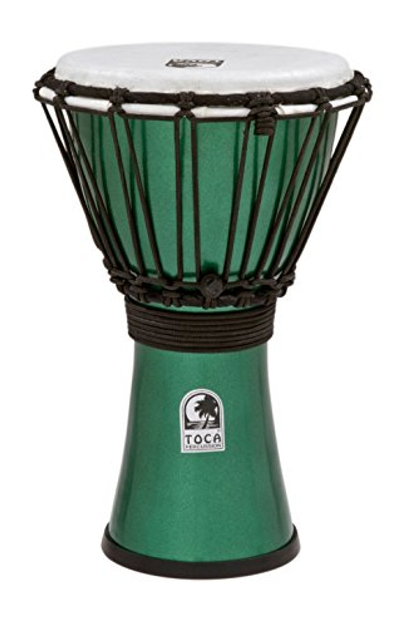 Toca a TFCDJ-7MG Freestyle Colorsound 7-Inch Djembe - Metallic Green