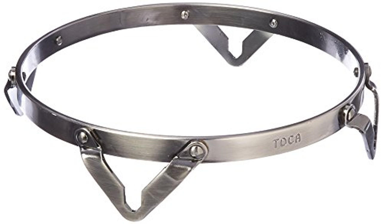 """Toca a TP-37018-BC Traditional Bongo Hoop 81/2"""" Brushed Chrome"""
