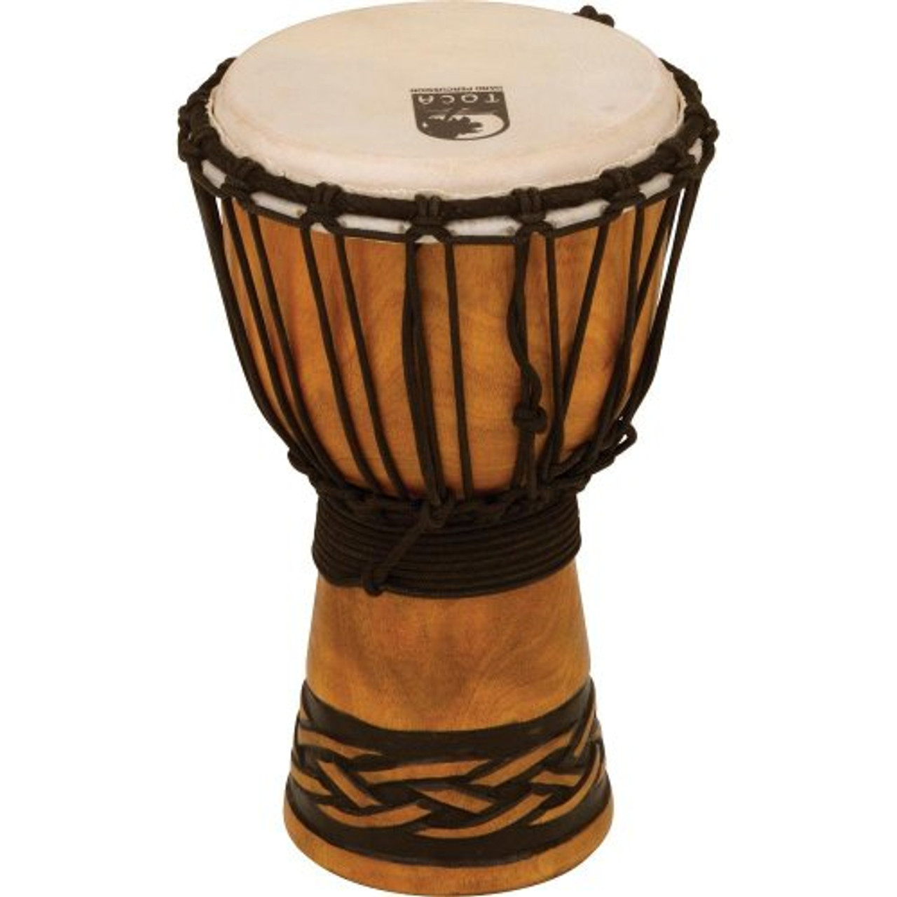 Toca a TODJ-7CK Origins Series Rope Tuned Wood 7-Inch Djembe - Celtic Knot Finish