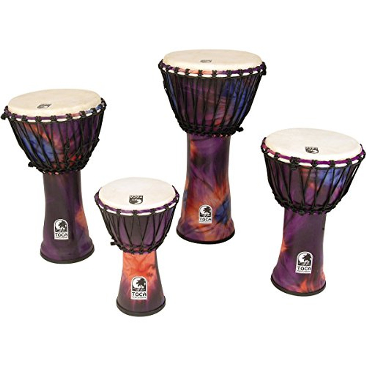 Toca a Synergy Freestyle Rope Tuned Djembe 9 In Purple