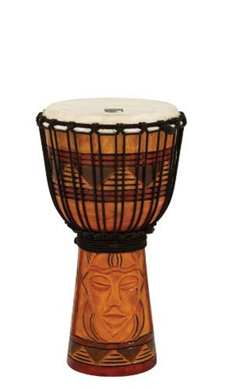 Toca a TODJ-8TM Origins Series Rope Tuned Wood 8-Inch Djembe - Tribal Mask