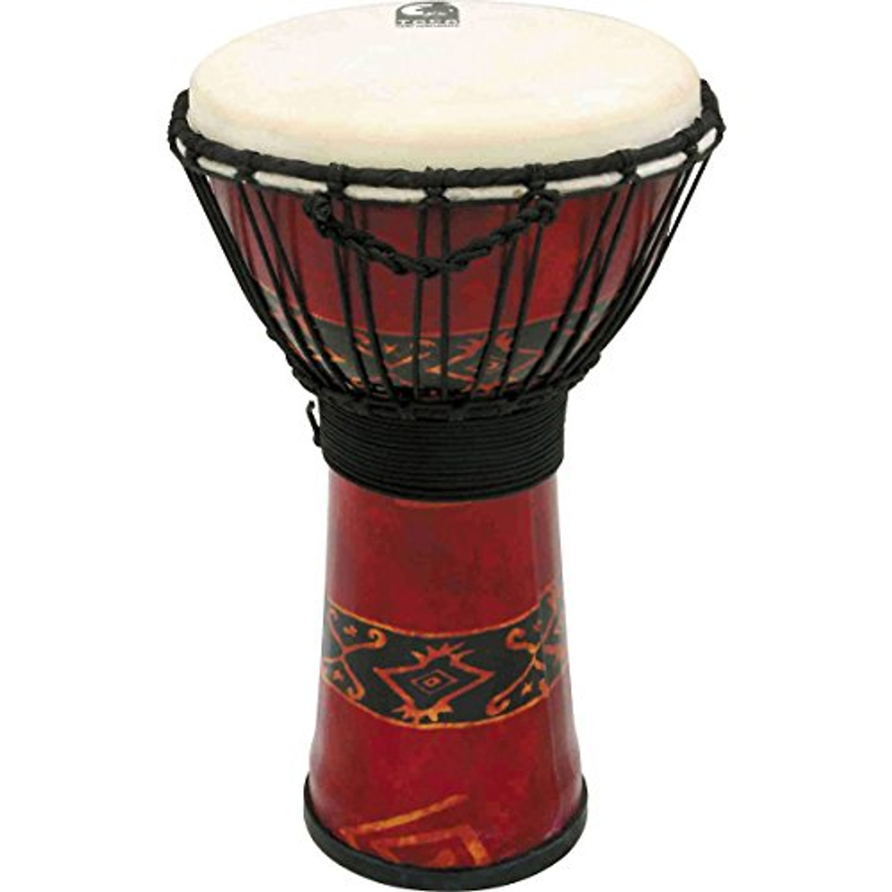 Toca a SFDJ-10RP Freestyle Rope Tuned 10-Inch Djembe - Bali Red Finish