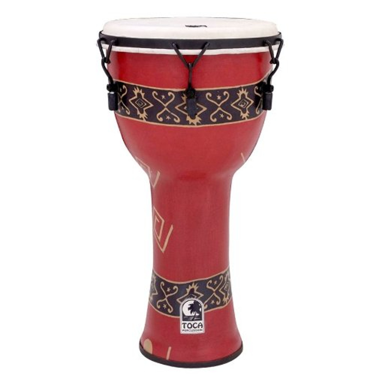 Toca a SFDMX-9RP Freestyle Mechanically Tuned 9-Inch Djembe - Bali Red Finish