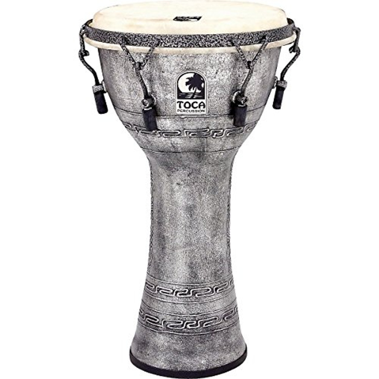 Toca a Freestyle Antique-Finish Djembe (10 inch Silver)