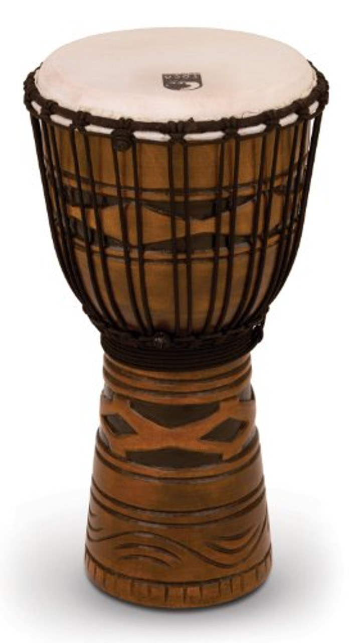 Toca a TODJ-10AM Origins Series Rope Tuned Wood 10-Inch Djembe - African Mask Finish