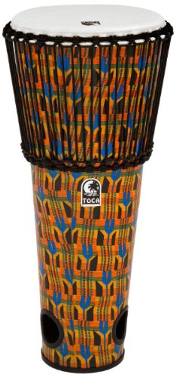 Toca a TFA-12RK Rope Tuned 12-Inch Ashiko Drum - Kente Cloth