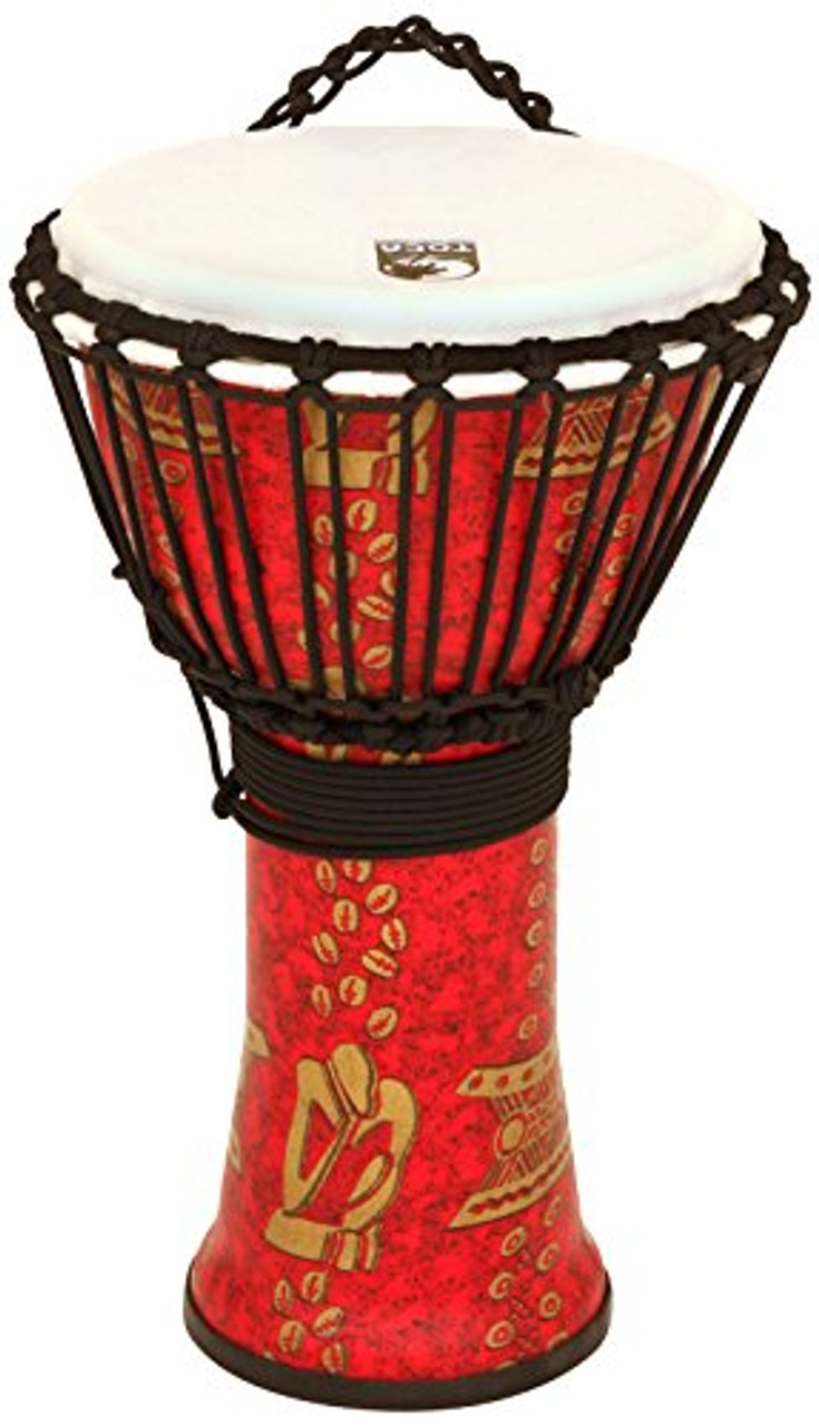Toca a TF2DJ-14TB FreeStyle II 14-Inch Rope Tuned Djembe with Bag, Thinker