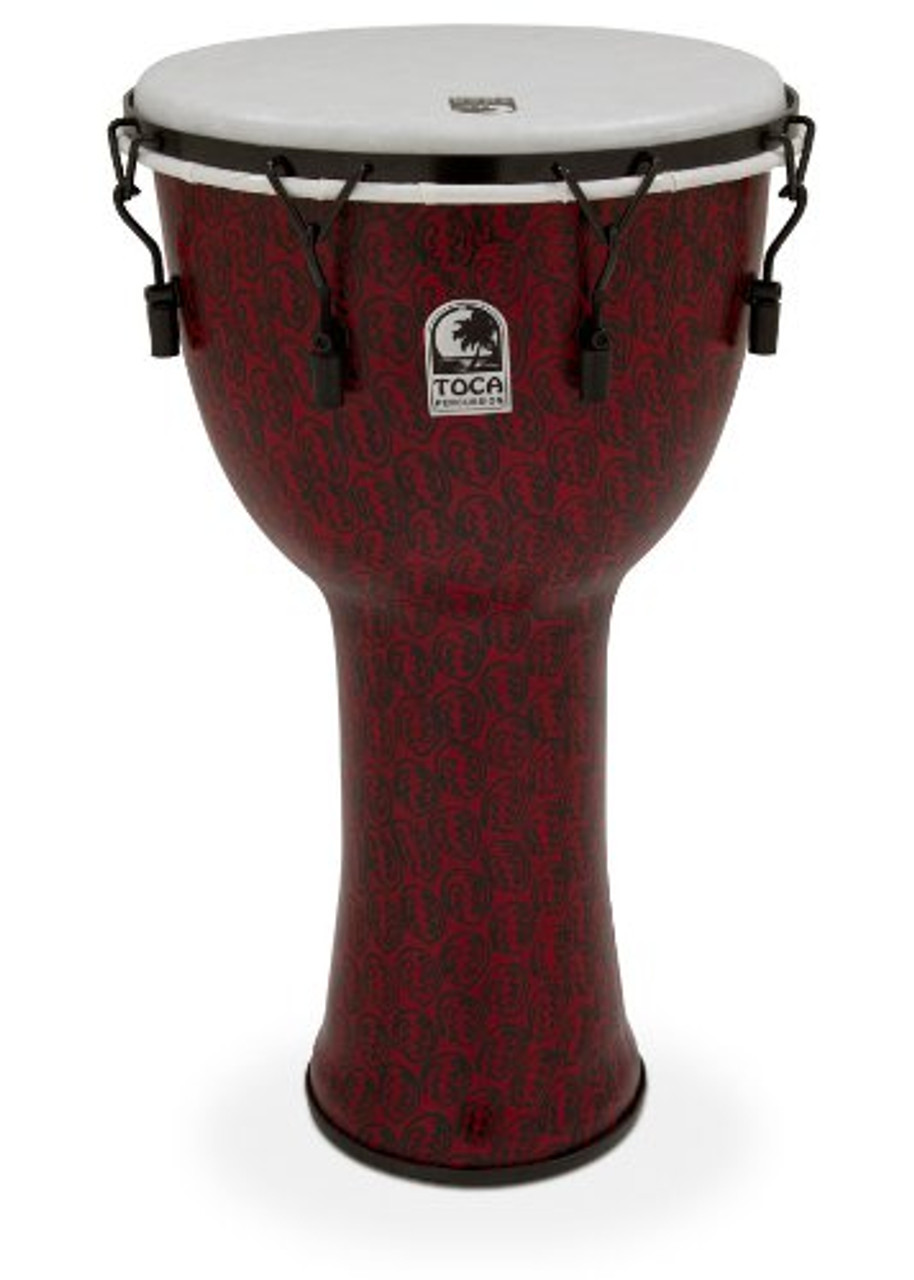 """Antique Silver Toca Freestyle 14/"""" Djembe Drum w// Gig Bag"""
