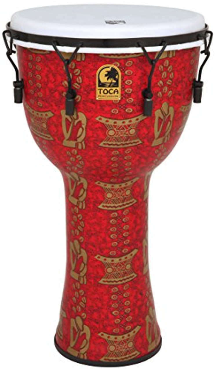 Toca a TF2DM-14TB FreeStyle II 14-Inch Mechanically Tuned Djembe with Bag, Thinker